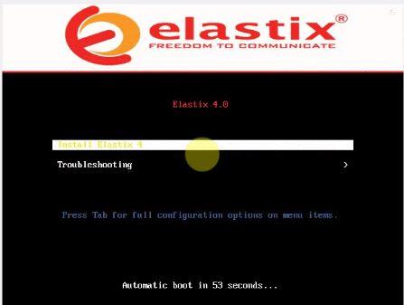 elastix 4 virtual machine