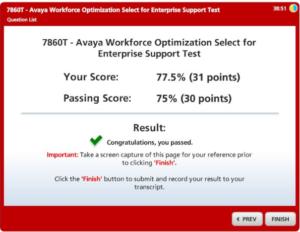 Avaya AWFOS 7860T Test Exam Dumps